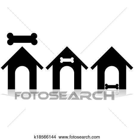 剪贴画 狗房子, 图标