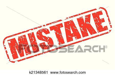 clipart fehler rot briefmarke text k21348561 suche clip art illustration wandbilder. Black Bedroom Furniture Sets. Home Design Ideas