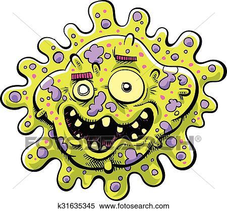 clipart of happy bacteria k31635345 search clip art illustration rh fotosearch com bacteria clipart png bacteria clipart png