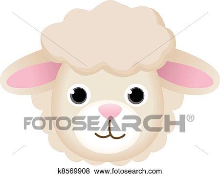 clip art of sheep face k8569908