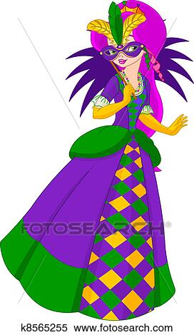 clipart of mardi gras queen k8565255 search clip art illustration rh fotosearch com mardi gras clip art photos mardi gras clip art photos