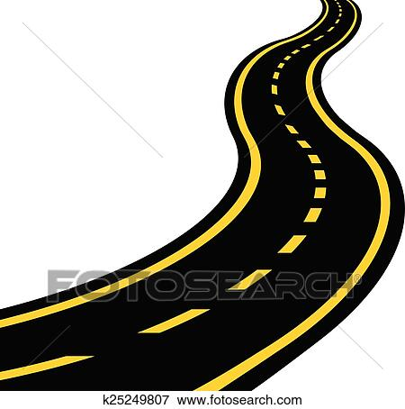Clip Art of Winding road k25249807 - Search Clipart ...