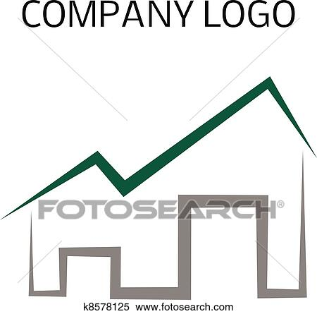 clipart haus logo k8578125 suche clip art illustration wandbilder zeichnungen und vector. Black Bedroom Furniture Sets. Home Design Ideas