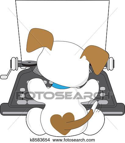 Cute Typewriter Clipart Clipart Cute Puppy