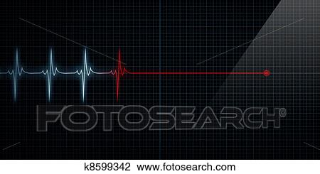 Line Art Of Heart : Clip art of heart monitor flat line death k8599342 search clipart