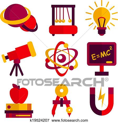 Clip Art Physics Clipart clipart of physics science icons set k19745863 search clip art and astronomy set