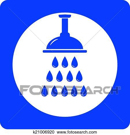 Duschkopf clipart  Clipart - blau, duschkopf, symbol k21006920 - Suche Clip Art ...
