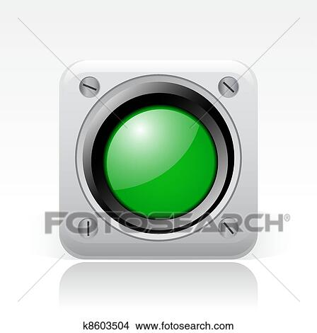 Clipart of Vector illustration of single isolated green traffic ...