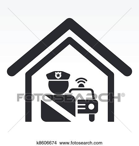 Polizeiwache clipart  Clipart - vektor, abbildung, von, einzel, freigestellt ...
