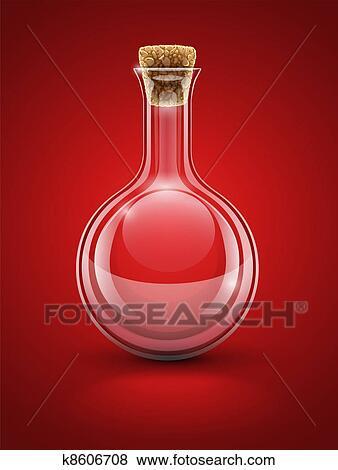 clipart verre vide chimique flacon bouchon k8606708 recherchez des cliparts des. Black Bedroom Furniture Sets. Home Design Ideas