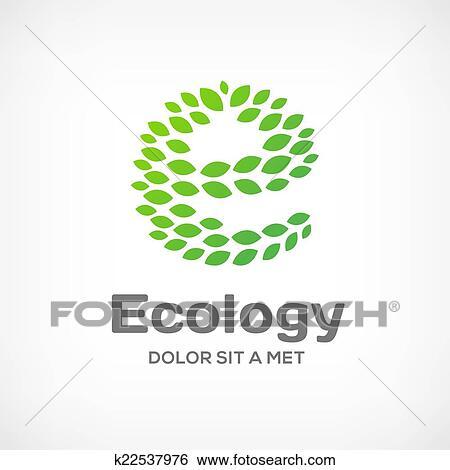 Clip art of letter e eco green leaf logo icon design template clip art letter e eco green leaf logo icon design template vector ecolog spiritdancerdesigns Images