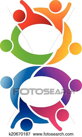 clip art of number 8 teamwork logo k20670187 search clipart rh fotosearch com  pink number 8 clipart