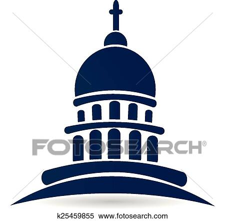 clipart of church temple capitol building logo k25459855 search rh fotosearch com capital building clip art on inauguration day us capitol building clipart