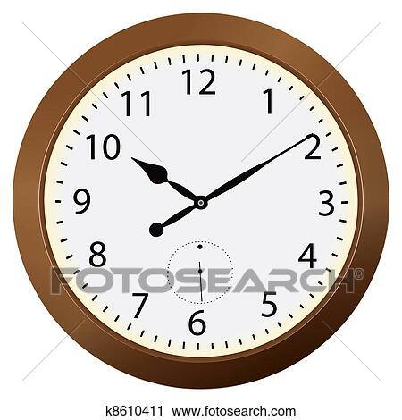 Clipart of Wall clocks k8610411 - Search Clip Art ...