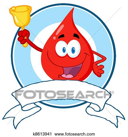 clipart of red blood drop waving a bell k8613941 search clip art rh fotosearch com 3d blood drop clipart Blood Drop Clip Art Black and White