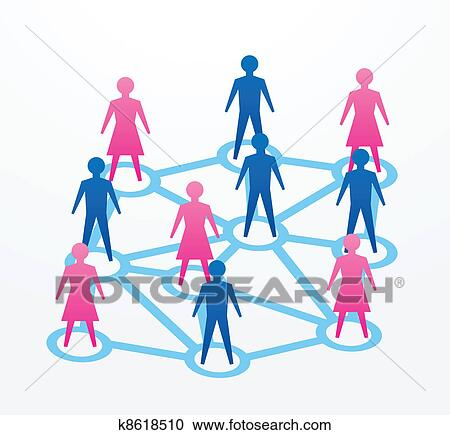clipart of social and networking concepts k8618510 search clip art rh fotosearch com free networking clipart network clipart