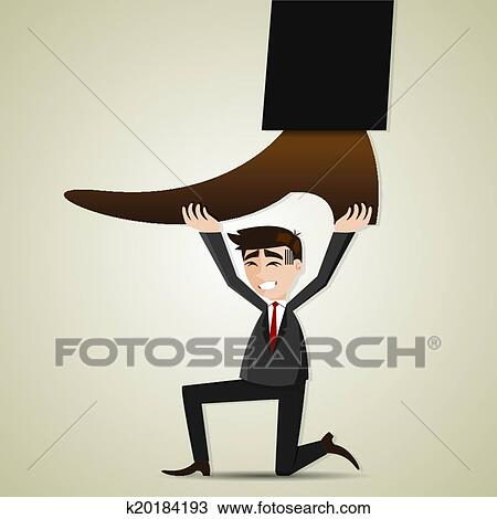 Clipart of cartoon businessman carry stomping foot k20184193 ...