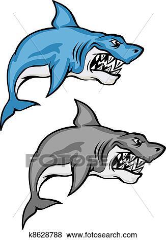 剪贴画 - 危险, 鲨鱼图片