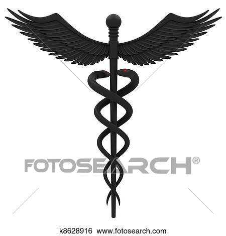 Stock Illustration Of Medical Caduceus Symbol K8628916 Search Clip