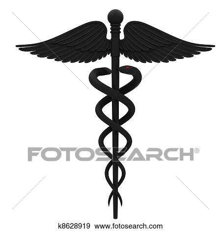 Stock Illustration Of Medical Caduceus Symbol K8628919 Search