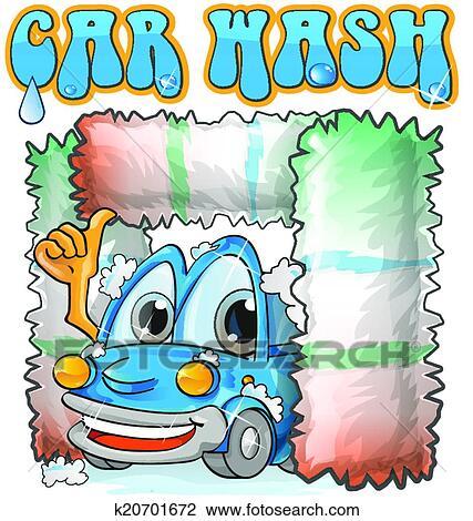 Clipart lavage voiture dessin anim k20701672 recherchez des clip arts des illustrations - Coloriage car wash ...
