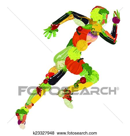 Clip Art of healthy lifestyle k23327948 - Search Clipart ...