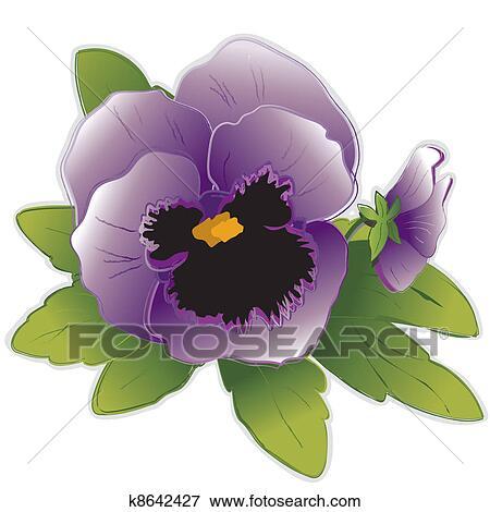 clipart lavande pens e fleurs k8642427 recherchez. Black Bedroom Furniture Sets. Home Design Ideas