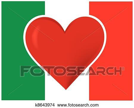Clipart cuore bandiera italia k8643974 cerca clipart for Clipart cuore