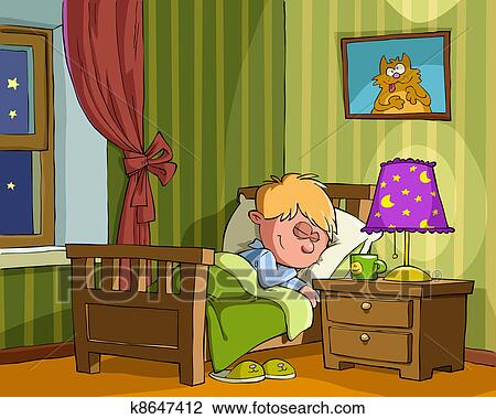 Clipart Of Childrens Bedroom K8647412 Search Clip Art Illustration