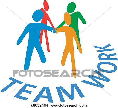clipart of collaboration people join hands teamwork k8652464 rh fotosearch com teamwork clip art funny teamwork clip art funny