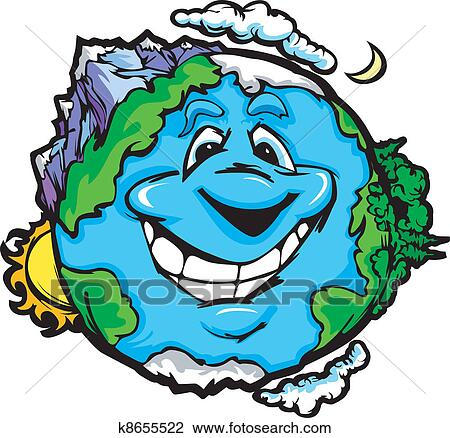 clipart of happy smiling planet earth k8655522 search clip art rh fotosearch com planet earth images clipart picture of planet earth clipart