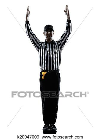 Stock Photograph of american football referee touchdown ...