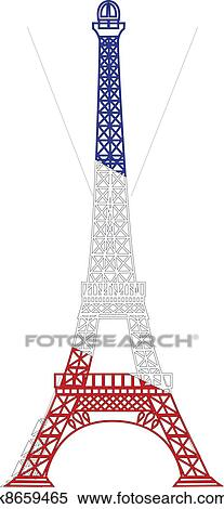 Clipart of the vector eiffel tower k8659465 search clip art clipart the vector eiffel tower fotosearch search clip art illustration murals thecheapjerseys Image collections
