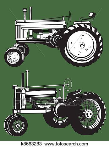 clipart of antique tractors k8663283 search clip art
