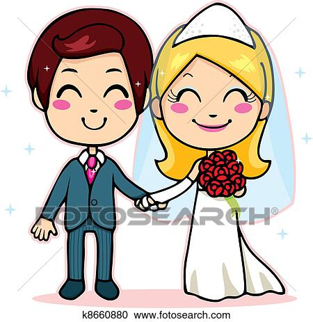 clipart of married couple holding hands k8660880 search clip art rh fotosearch com wedding day timeline clipart on your wedding day clipart
