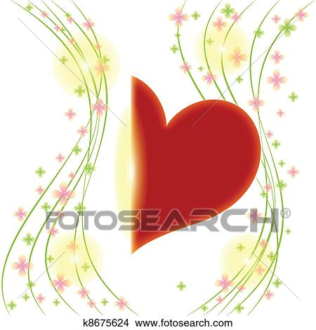 Сердце с поздравлениями