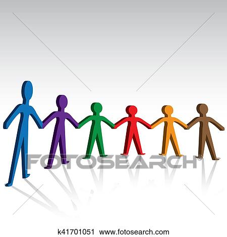 clipart of group of people joining hands together k41701051 search rh fotosearch com