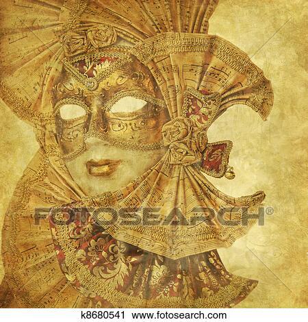 Banques de photographies riche antiquit masque - Masque venitien decoration ...