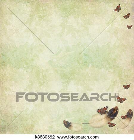 Stock foto gefieder und schmetterlinge fliegen auf for Fliegen in blumen