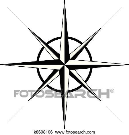clip art of black compass rose vector k8698106 search clipart rh fotosearch com