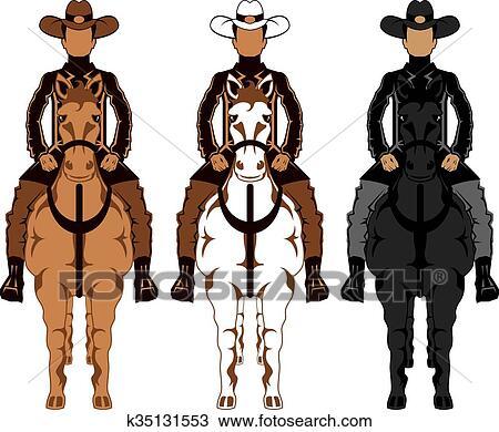 Clipart of cowboy horse front k35131553 search clip art cowboy horse front sciox Choice Image