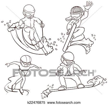Winter sports drawing