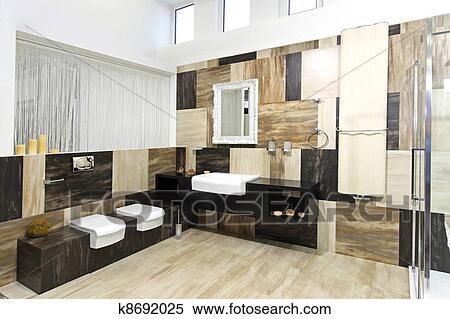 stock bild modernes badezimmer k8692025 suche stockfotos wandbilder fotografien und foto. Black Bedroom Furniture Sets. Home Design Ideas