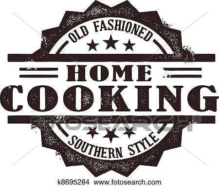 Clipart of Home Cooking Stamp k8695284 - Search Clip Art ...