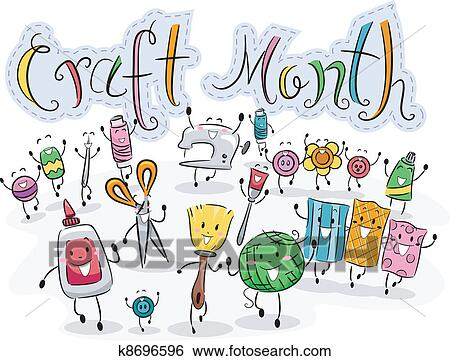 Clip Art Of Craft Month K8696596