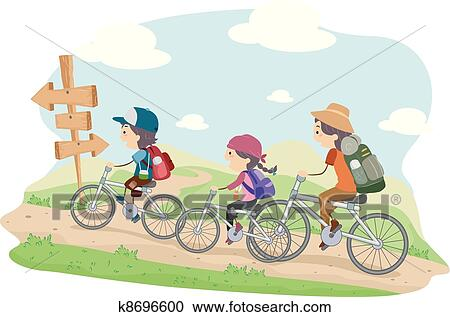 Clipart of Family Camping k8696600 - Search Clip Art ...