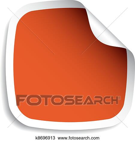 Clipart of vector blank stickers k8697080 - Search Clip Art ...