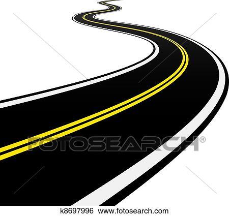 Winding Road Clipart Clip Art of vector win...