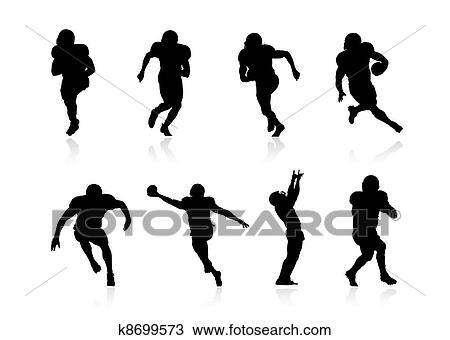 Dessin football am ricain joueurs k8699573 recherchez des cliparts des illustrations et - Dessin football americain ...