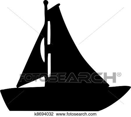 clipart of sailboat silhouette k8694032 - search clip art